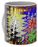 White Prickly Poppy Flower Color Abstract Coffee Mug