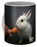 White Rabbit  Coffee Mug by Yedidya yos mizrachi