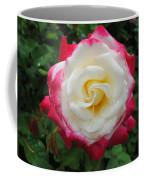 White Red Rose Coffee Mug