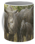 White Rhino Family - The Face That Only A Mother Could Love Coffee Mug
