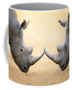White Rhinoceros  Head To Head Coffee Mug