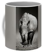 White Rhinoceros  In Due-tone Coffee Mug