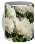 White Rhodies Landscape Floral Art Prints Canvas Baslee Troutman Coffee Mug
