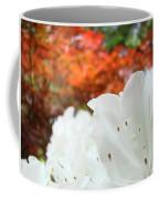 White Rhododendron Flowers Botanical Garden Prints Coffee Mug