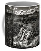 White River Falls Black  And White Coffee Mug