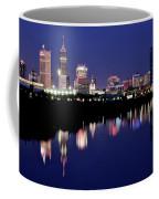 White River Reflects Indy Skyline Coffee Mug