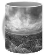 White River Valley Overlook Panorama 2 Bw Coffee Mug
