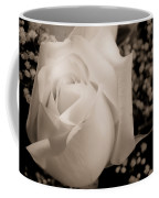 White Rose Bw Fine Art Photography Print Coffee Mug