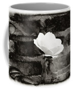 White Rose In Black And White Coffee Mug