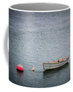 White Rowboat And Seagull Coffee Mug