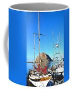 White Sail Boat Morro Rock  Coffee Mug