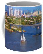 White Sailboat On The Water Coffee Mug