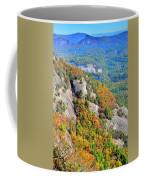 White Side Mountain Fool's Rock In Autumn Vertical Coffee Mug