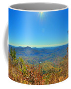 White Side Mountain Nantahala National Forest In Autumn Coffee Mug