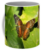 White Spotted Butterfly Coffee Mug