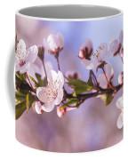 White Spring Flowers Coffee Mug