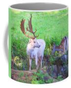 White Stag And Hind 2 Coffee Mug