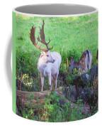 White Stag And Hind Coffee Mug