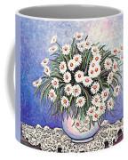White Straw Flowers Two Coffee Mug