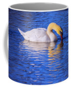 White Swan Drinking Water In A Pond Coffee Mug