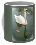 White Swan With Reflection Coffee Mug