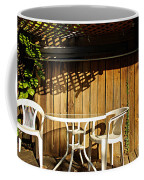 White Table With Chairs Coffee Mug