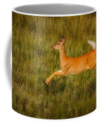 White-tailed Doe Leaping Coffee Mug