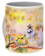 White Throated Sparrow - Digital Paint 1                                             Coffee Mug
