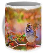 White Throated Sparrow - Digital Paint 3 Coffee Mug