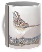 White-throated Sparrow Looking Skyward Coffee Mug