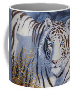 White Tiger - Crystal Eyes Coffee Mug by Crista Forest