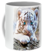 White Tiger Cub Coffee Mug