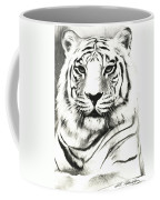 White Tiger Portrait Coffee Mug