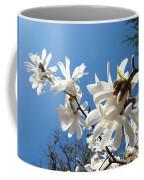 White Tree Flowers Art Prints Magnolia Blue Sky Floral Baslee Troutman Coffee Mug