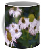 White Triangle Flowers Coffee Mug