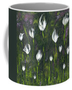 White Tulip Garden Coffee Mug