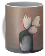 White Tulips - Abstract Art Coffee Mug