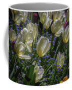 White Tulips In The Garden Coffee Mug