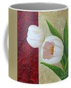 White Tulips Coffee Mug by Phyllis Howard