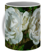 White Twin Flowers Coffee Mug