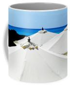 White Umbrellas Coffee Mug by Karen Wiles