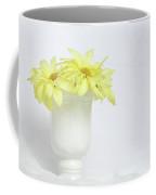 White Vase With Yellow Daisies Coffee Mug