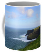 White Water At The Base Of The Cliff's Of Moher Coffee Mug