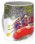 July In Oregon, White Water Rafting Coffee Mug