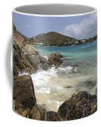 White Waves Crashing Coffee Mug