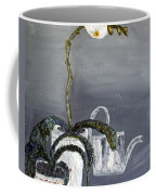 White Wild Orchid Coffee Mug