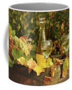 White Wine And Grape In Vineyard Coffee Mug