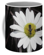 White With Bee Coffee Mug