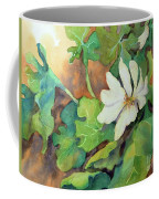 White Woodland Flower Coffee Mug