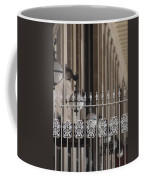 White Wrought Iron Gate In Chicago Coffee Mug